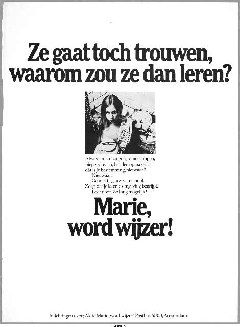 Marie, word wijzer!