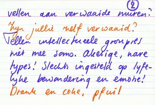 Brief van Sjuul Deckwitz