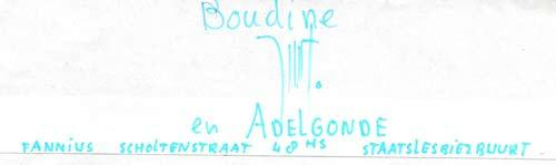 Brief van Aldegonde Appelmoes