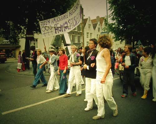 v.r.n.l. Martha Vooren, Marieke Griffijn, Rita Meijer, ?, Mieke Janssen, Gerdien