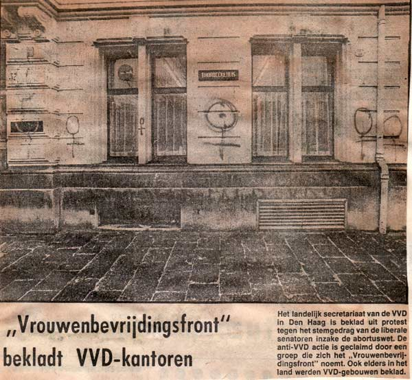 VVD-kantoren beklad