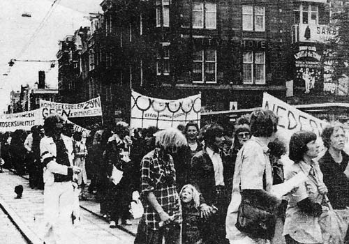 Homo-demonstratie 1977