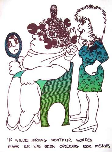 Poster van de Steungroep voor Vrouwen in Techniese Beroepen