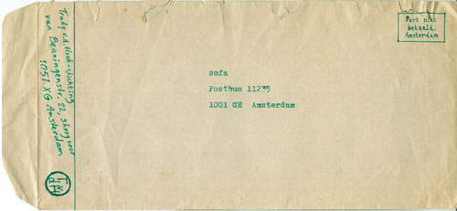 Brief van Trudy vd Hoek